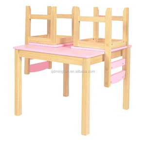 Pine Wood Cheap Kids Table And Chairs Set Kids Study Table And Chair