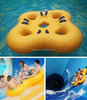 Four persons durable 1mm pvc water park ride slopes sliding inflatable tube
