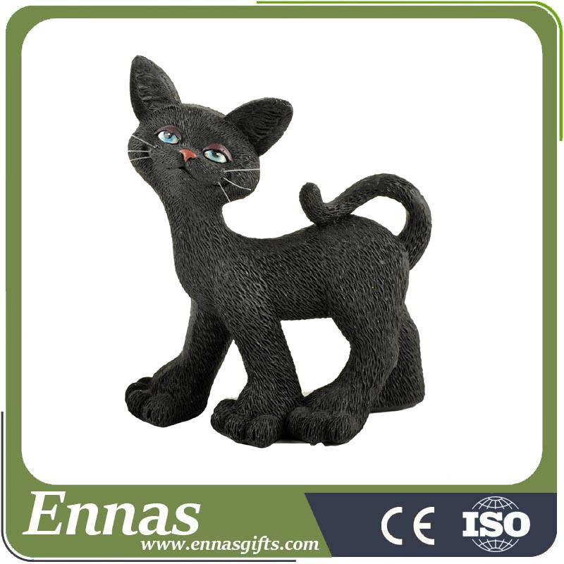 Polyresin hotsale walking halloween black cat crafts & gifts