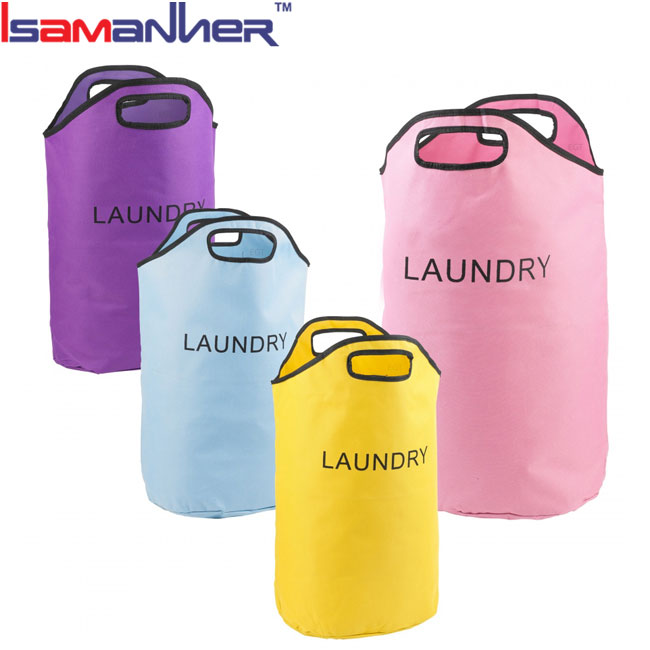Hanging Laundry Bag Clothes Hamper, Resuable Drawstring Commercial Laundry Bag