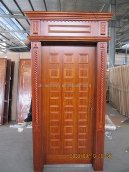 Modern luxury 100 solid rubber wood finger joint door for Finger joint wood doors