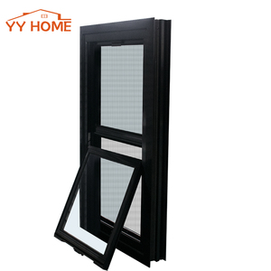 American Style Aluminum Double Hung window Top vertical sliding double glass windows