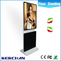 Factory price 42 inch rotating mobile board stand indoorandroid system large advertising lcd screens