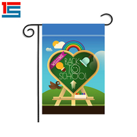 welcome back to school design 3D embroidery garden flags
