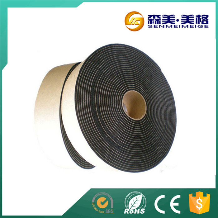 black self adhesive rubber strip