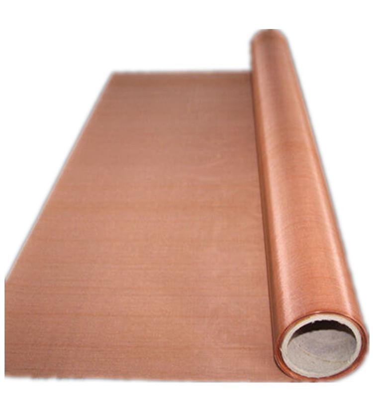 brass/copper gauze wire mesh/copper netting/20 mesh copper wire mesh for rfi shielding
