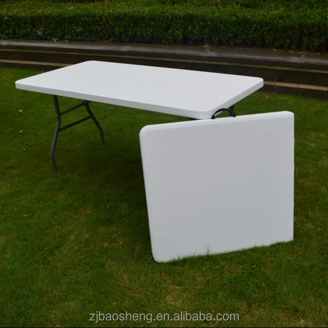 2016 new design picnic white plastic rectangle garden folding in half table high quility and popular.
