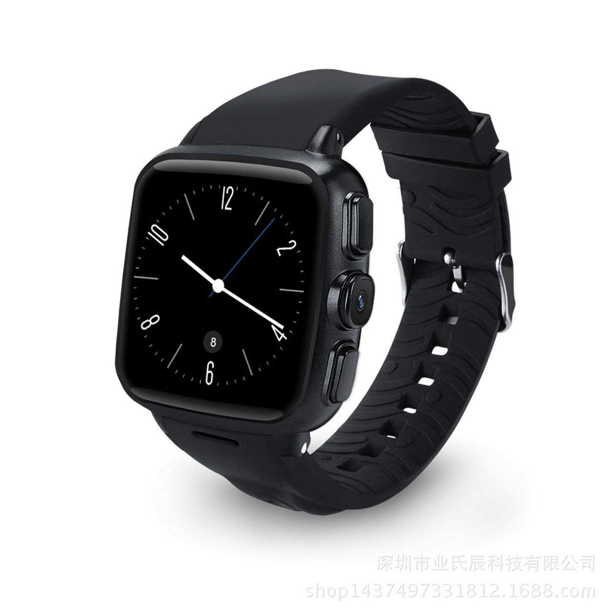 Minz smart watch Andrews WIFI 3G GPS positioning Smart wear camera Heart rate monitoring (Color : Black)