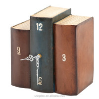 Metal or paperboard material book table clock