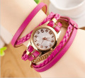 Europe Popular Ebay Women Heart Pendant Charm Bracelets Wristwatch 7 Hot Colors Lady Gift Luxury Quartz