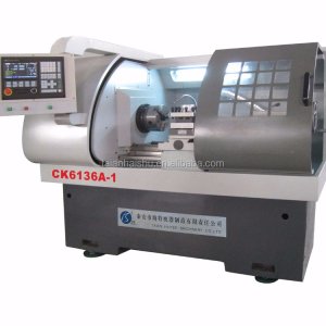 CK6136A-1 steel cnc lathe turning parts/ wheel lathe/ cnc lathe chuck Automatic Bar Feeder