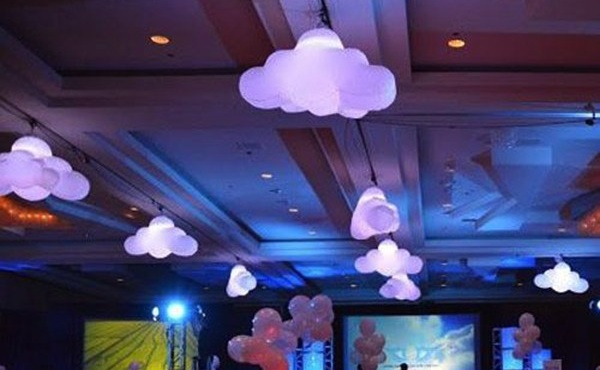 Indoor party decoration inflatable with led light for Balloon cloud decoration