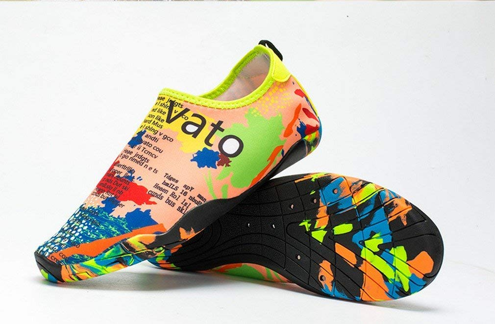 d0cb6f82622b Get Quotations · Resmord Water Shoes Men Women Kid Barefoot Skin Shoes  Quick-Dry For Beach Swim Surf