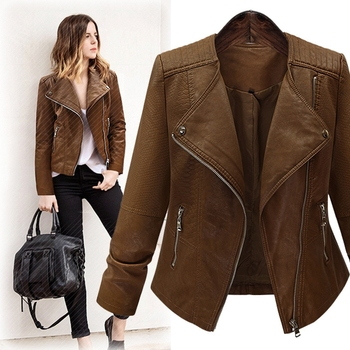 Cool Leather Coat Luxury Leather Jacket Snake Skin Zipper Rider ...