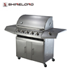 Stainless Steel Smokeless Gas Cast Iron Heavy Duty Outdoor Barbecue Grill