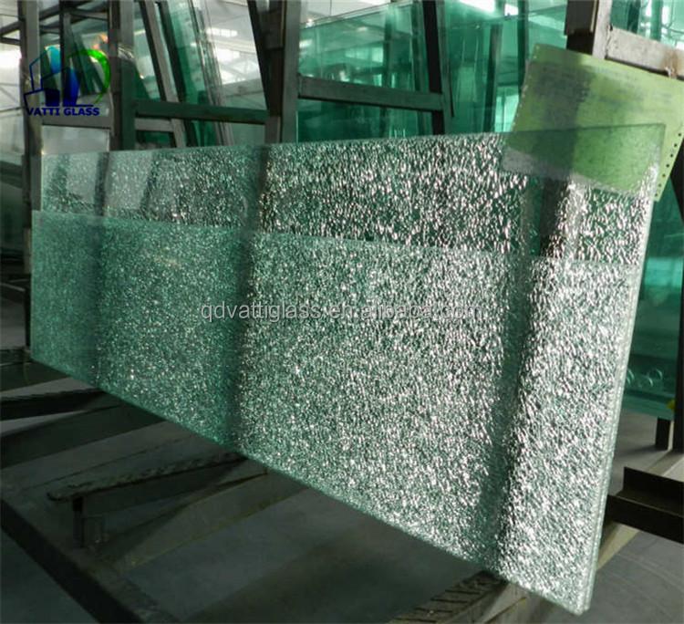 ice crack glass wholesale price tempered ice glass maker shower enclosure decorative  broken glass