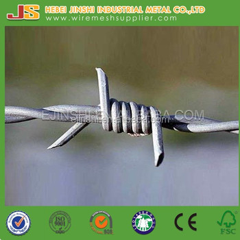 14 Gauge High Zinc Coating Barbed Wire/Fence used Barbed Wire