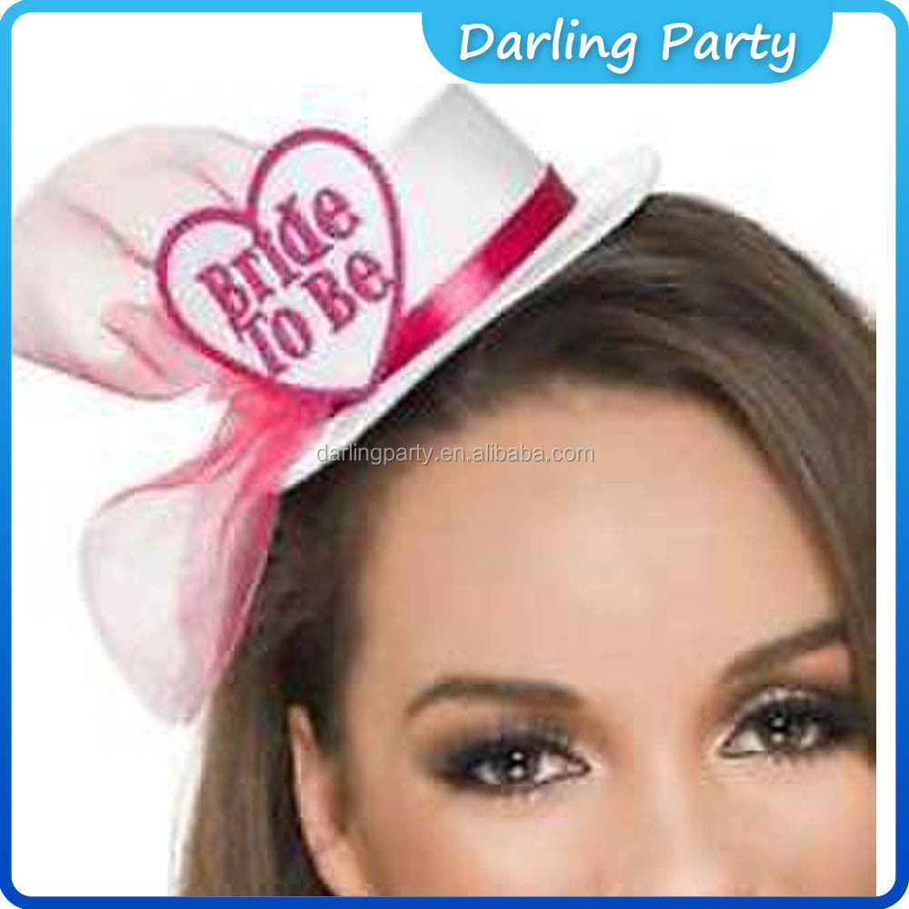 wedding accessories Party supplies hen party wihte mini hats