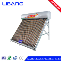 non pressurized solar water heater with electric heater