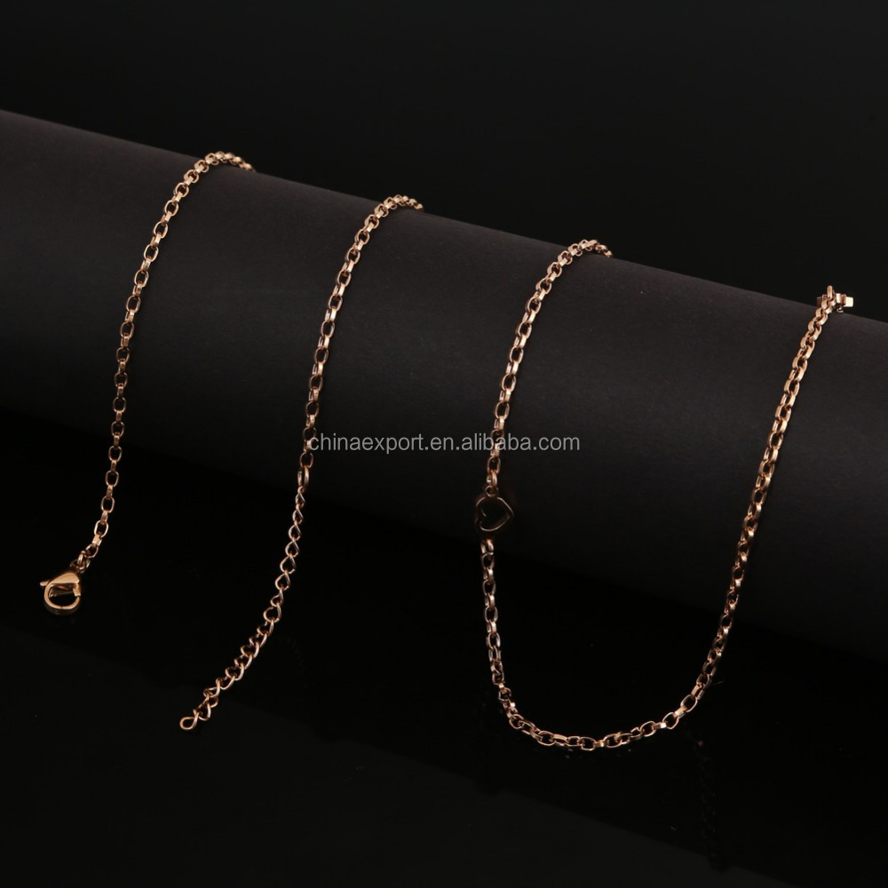 High Quality Stainless Steel Necklace Jewelry Cable Chain