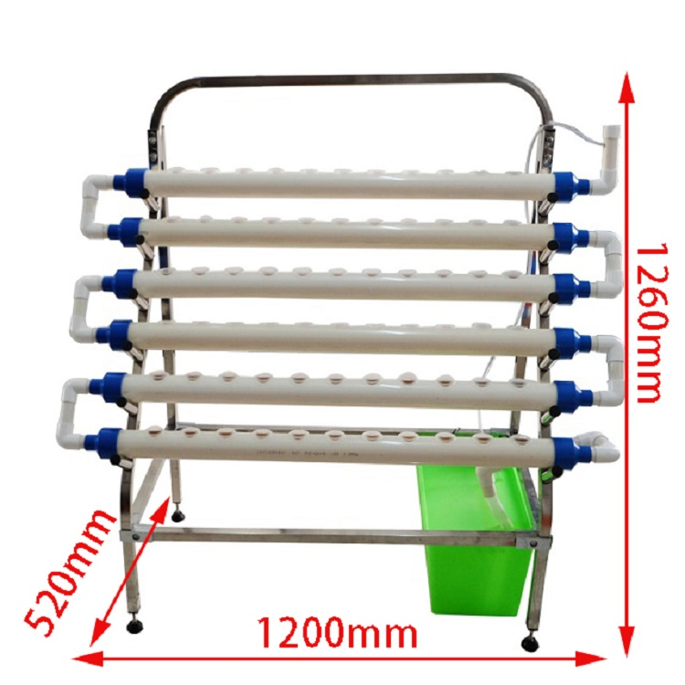 Stainless steel frame 6 pipe NFT Indoor garden home hydroponics kit