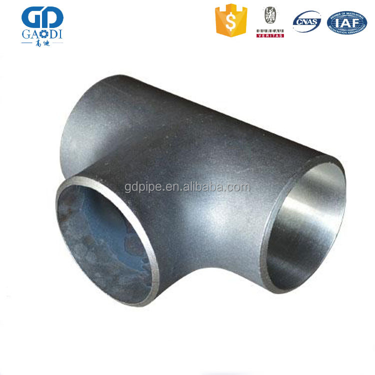1 inch pipe fittings elbow SS304 SS316 Stainless Steel short 3 way Welded pipe tee joint