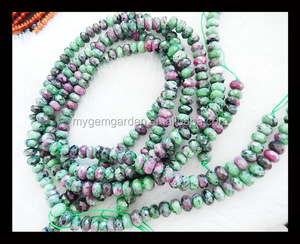 Custom 8x5mm Zoisite Faceted Beads And Ruby Stone,ruby gemstone,ruby
