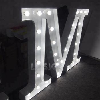 Wedding Prop Letter Backdrop Light Led Marquee Letter Sign For