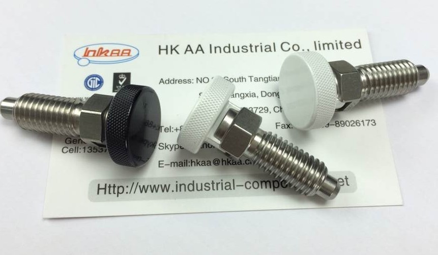 hand retractable indexing spring loaded plunger 304 stainless steel
