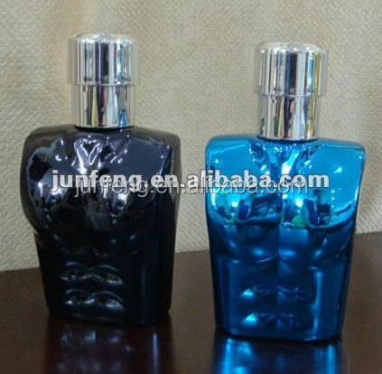 new design hot sale 80ml man shaped perfume bottle
