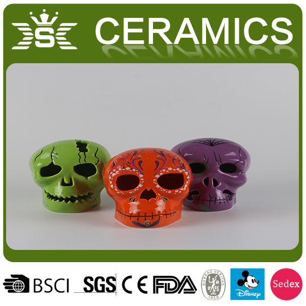 2017 Hallowmas Festive Gift Ceramic Skull Home Decor