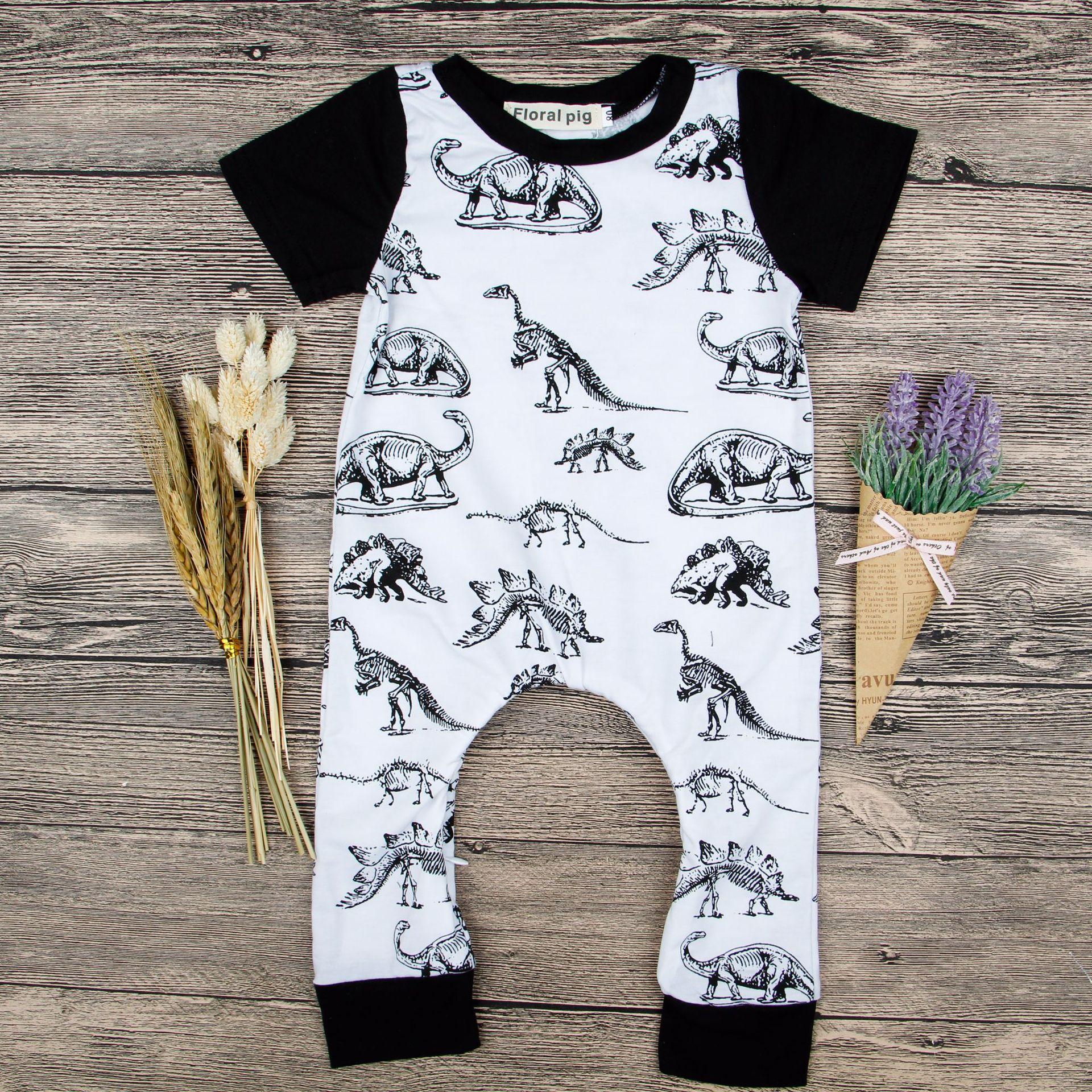 670ed23918e0 2018 Newborn Baby Dinosaur Clothes Infant Baby Girls Sleeveless ...