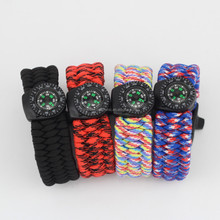 Featured Outdoor Tactical Survival Paracord Watch Bracelet