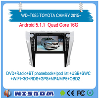 8'' touch screen android for Toyota Camry 2015 2016 2017 car stereo 2 din with bluetooth wifi 3g internet support multi-language