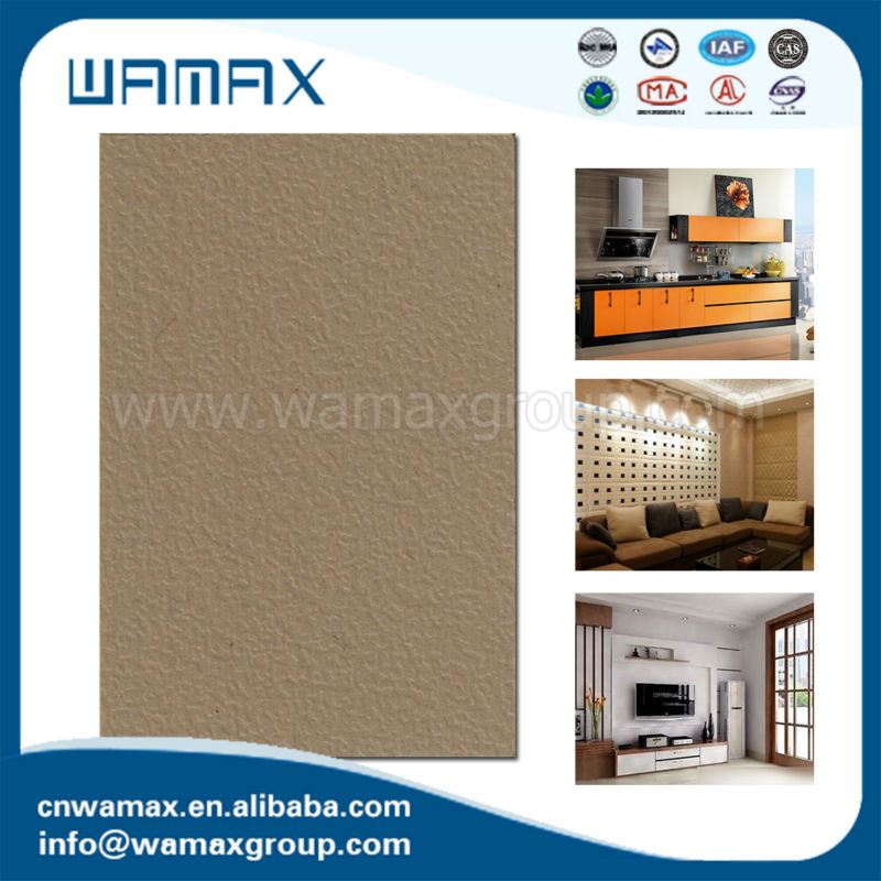 Zhejiang WAMAX brand hpl high pressure laminate sheet with solid or wood grain color