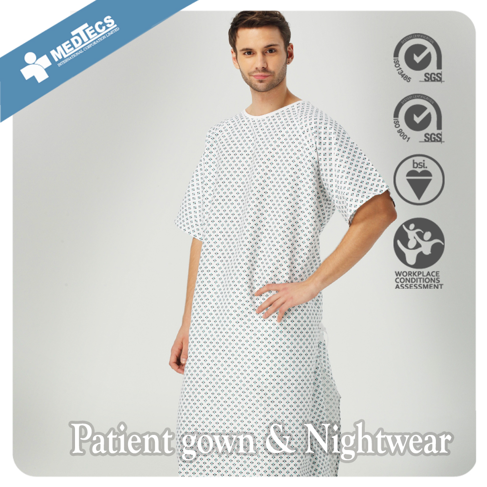 Wrap-over Comfortable Hospital Patient Gown - Buy Wrap-over Hospital ...