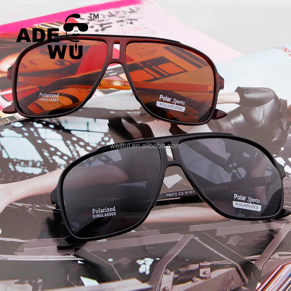 ADE WU 2018 Mens sport polarized sunglasses uv400 Fashionble besar bingkai  kacamata di luar ruangan 1cfd0f128a