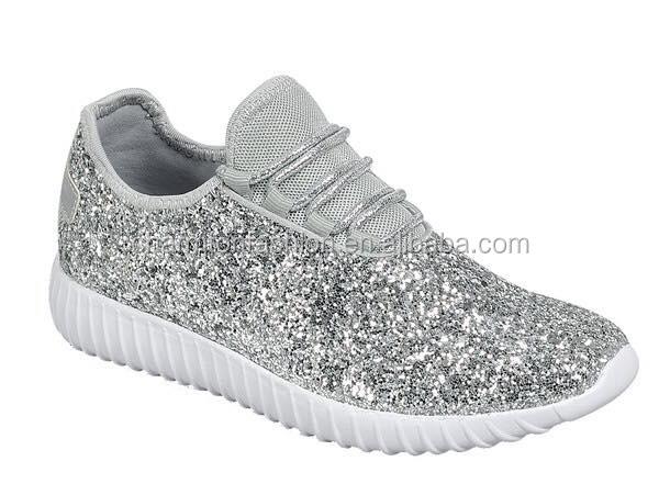 3a7b1097dead Wholesale New Design Personlized Fashion Women Sparkly Tennis Glitter  Sneaker Shoes