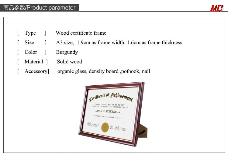 Cardboard Wholesale A4 Certificate Frames Buy Cheap Certificate