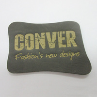 Chinese Fashion Logo Design Leather Patch, Jeans Leather Label with Custom Design