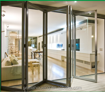 New Type Double Glazed Aluminium Folding Door With Glass - Buy ...