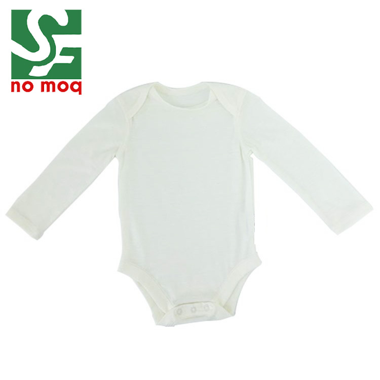 53533d62c Wholesale Long Sleeve 100% Merino Wool Romper Newborn Baby ...