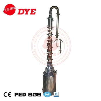 50L  100L cheap small 4 sections alcohol home distiller for making whisky brandy