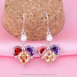 Sale crystal fashion jewelry price of 1 cart diamond earring shopping online