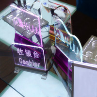 clear exquisite acrylic outdoor advertising led display sign