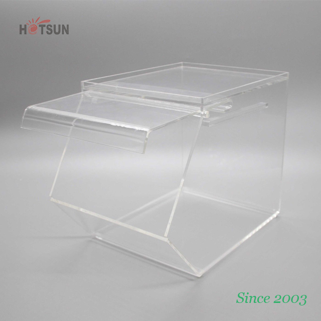 Stackable Clear Acrylic Box for Sweets Plexiglass Candy Bin for Cookies