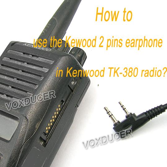 Multi-pin to 2-pin For Kenwood Conversion Audio Adapter TK-290 TK-380 TK-3180