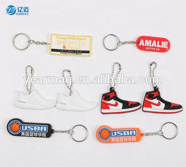 Eco-friendly multitool 2d 3d rubber keychain custom three dimensional logo key chain PVC keyring