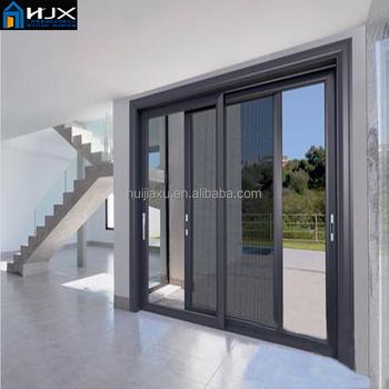 Powder Coating Soundproof French Doors3 Panel Sliding Glass Door