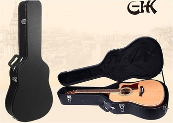 Factory Price Profeesional Leather Acoustic Guitar Hard Case